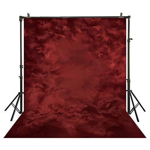 Qingsb rood portret achtergrond abstract studio achtergronden fotografie foto terug drop doek headshot zakelijke professionele achtergrond, dun vinyl 150x300cm