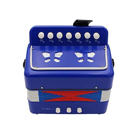 Wilk 7 Tasti 2 Fisarmonica Bambini Bass Strumento Educativo Giocattolo dello Strumento Solo Accordion Ensemble Musicale per La Prima Infanzia Insegnamento Blu