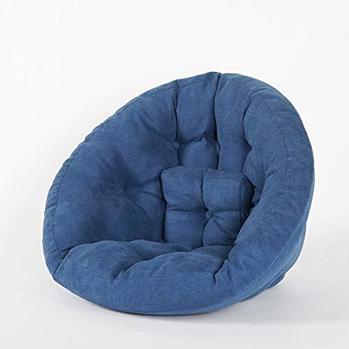 Sofá de Asiento Sofá de Asiento Individual Plegable para 3 usos Lavable Cuerpo Presión Dispersión Redonda Forma Redonda Sentado Cómodo Niños, Adultos y Ancianos,Azul