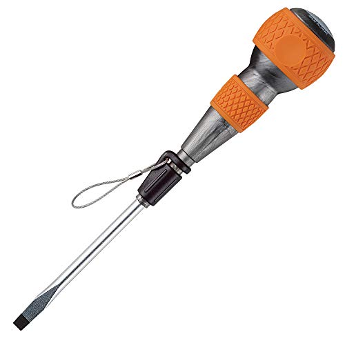"VESSEL Ball Grip Tethered Screwdriver -6x125 (1/4""x5"