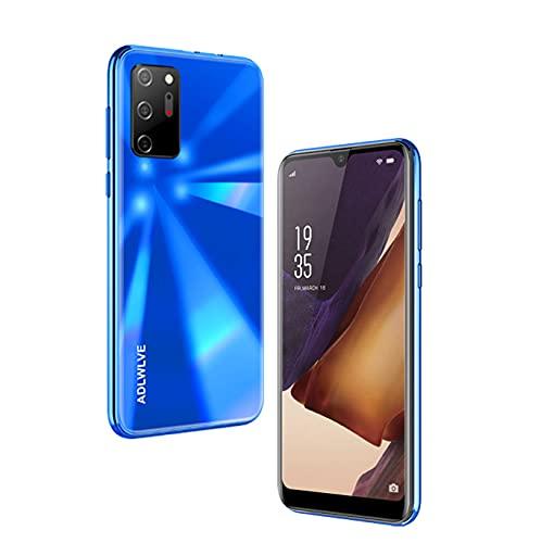 Teléfono Móvil Libres 4G, Android 9.0 Smartphone Libre, 6.3' HD, 3GB + 16GB, Cámara 8MP, Batería 4300mAh, Smartphone Barato Dual SIM, Face ID Moviles Baratos y Buenos -2*SIM+1*SD- (Azul)