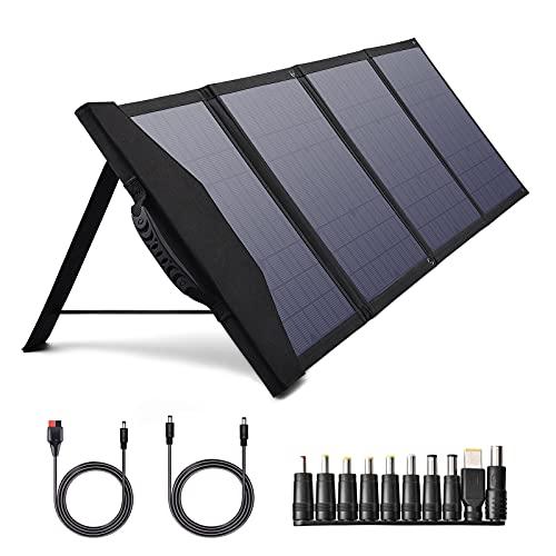 Cargador de panel solar portátil de 80 W, panel solar plegable con PD de 30 W y salidas QC 3.0 para Jackery Explorer 160/240, compatible con portátil, smartphones, cámara