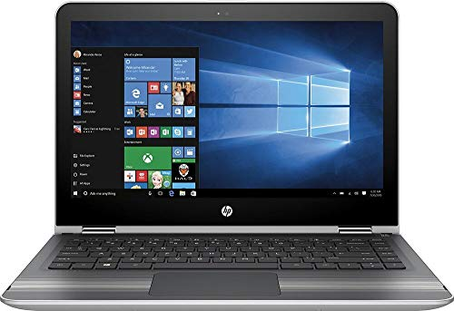 "HP 2-in-1 X360 11.6"" Touch-Screen HD IPS Laptop (Intel Pentium Processor, 4GB Memory, 500GB HDD, 802.11ac, Webcam, HDMI, No DVD, Windows 10-Natural Silver)"