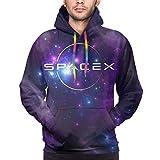 Tengyuntong Felpe con Cappuccio, Men's Fashion 3D Galaxy Spacex Pocket Pullover Hoodies