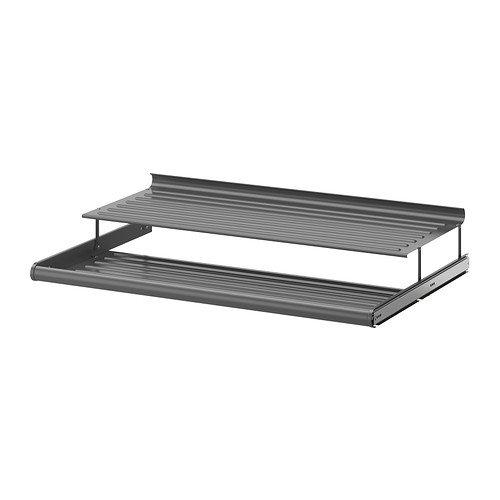 IKEA KOMPLEMENT Schuhregal in dunkelgrau; ausziehbar; (100x58cm)