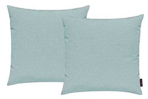 Fino Kissenhülle ca. 50 x 50 cm hochwertig & knitterarm Farbe 31 Mint (2er Set)