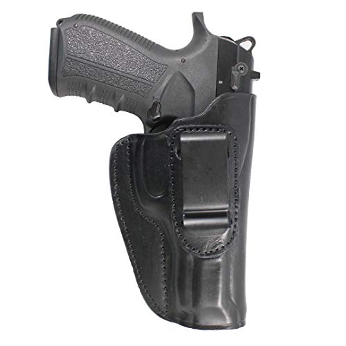 YT Hobby Concealed Carry Real Leather IWB Handmade Gun Holster (Black - Right Hand, CZ 75)