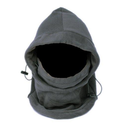 EOZY térmico cálido forro polar pasamontañas capucha velo viento Tapón prueba máscara sombreros -  negro -