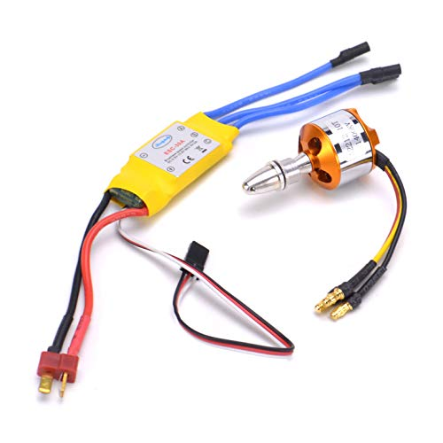 FPVDrone RC A2212 1400KV Brushless Motor+30A ESC Electric Speed Controller for RC Plane Quadcopter Helicopter Aircraft