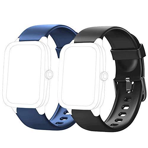 Flenco Correa para Reloj ID205L ID205S ID205U ID20G ID205 Reloj Inteligente Pulsera de Repuesto Smartwatch Pulsómetro Pulsera Actividad Cronómetros Correa de Reloj Podómetro Caloría Monitor de Sueño
