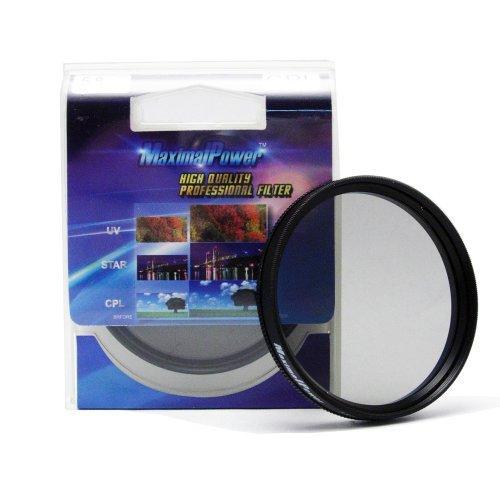 MaximalPower Replacement 52mm Circular Polarizer Lens Filter & Cover For Canon and Nikon DSLR Cameras