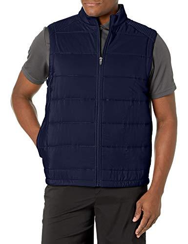 PGA TOUR Men's Ultra Sonic Mixed Media Vest, Peacoat, XX Large