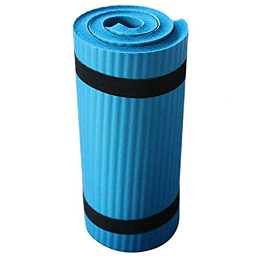 A-zht Conveniente Alfombra de Yoga sin Deslizamiento Alfombra Pilates Gimnasio Deporte Ejercicio Almohadillas para Principiantes Fitness Gimnasia Ambiental lustressness Durable (Color : Blue)