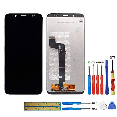 swark LCD Display Compatible with HTC U12 Life 6.0 inch (not fits HTC U12+) (Schwarz Ohne Rahmen) LCD Display Touchscreen Digitizer Assembly Glas + Tools