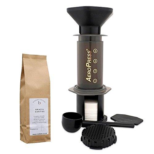 Aerobie Kaffeemaschine AeroPress mit gratis 250 G Kaffee geröstetem von frisch