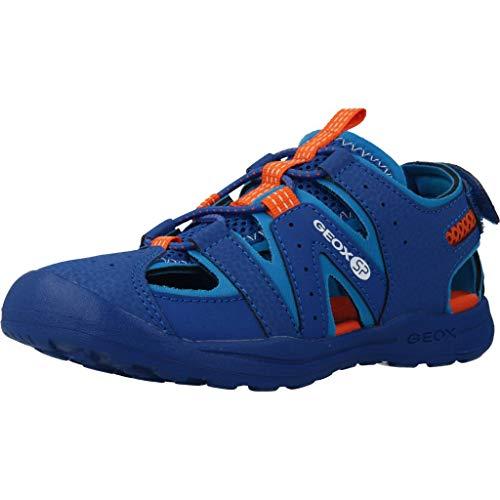 Geox VANIETT Boy J925XA Jungen Trekking Sandalen,Kinder Outdoor-Sandale,Sport-Sandale,geschlossener Zehenbereich,ROYAL/ORANGE,30