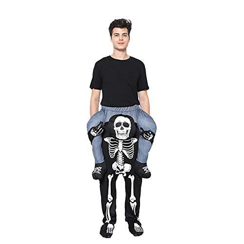FairytaleMM Halloween Christmas Skeleton Back Hose Devil Hose Cos Party Garment Party für Bühnenauftritt (schwarz)
