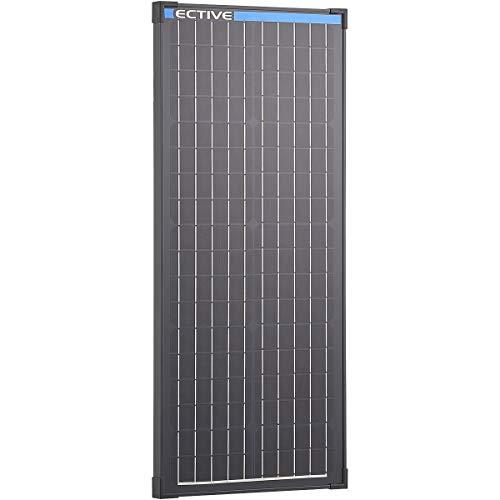 ECTIVE 12V 50W Monokristallines Solarmodul Black Edition mit 36...