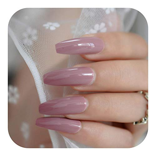 Style Artificial False Nails, Neon Bright Leon Yellow Press On False Nails Extra Long Coffin Ballerina Shape UV Gel Glue On Fingersnails Free Adhesive Tapes-L5295-