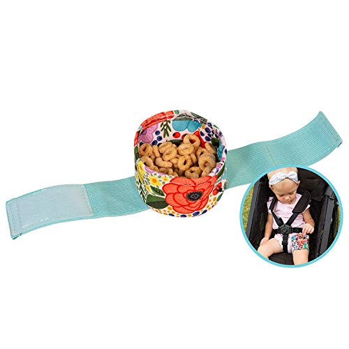 Wearabowl Baby & Toddler Snack Bowl/Snack Cup with Strap | secures Snacks to a Child's Thigh When Seated in a Stroller or car seat | Ladybug Love
