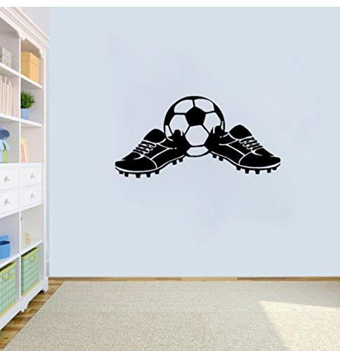 Zshhy Cartoon Coolsten Fußball Wandaufkleber Pvc Fußballschuhe Kinder Jungen Sport 34,1 Cm * 69 Cm