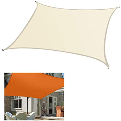 No/Brand 98% UV Block Sun Shade Sail 4x3M/3x2M Rectangle Waterproof Awning Tents for Outdoor Garden Terrace Swimming