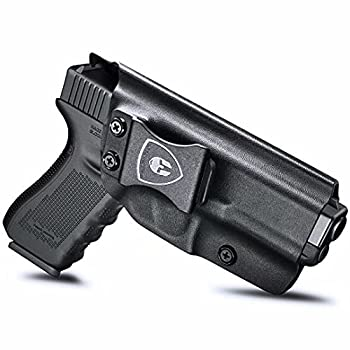 Compatible with Glock 19 Holster IWB Kydex Holster Fit  Glock 17 Glock 19 19X Glock 26 32 Glock 44 Glock 45 Gen  5 4 3 2 1  Pistol Inside Waistband Holster Condealed Carry Adj Cant & Retention