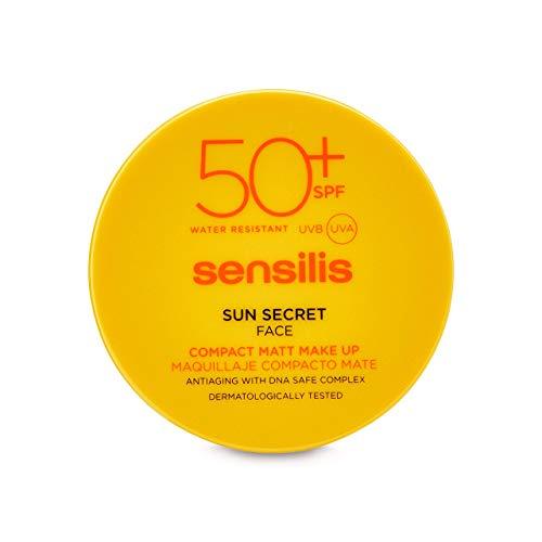 Sensilis Sun Secret - Maquillaje Compacto de Acabado Mate con SPF50+, Tono 02 Golden - 10 g