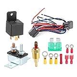 Kit de relé de refrigeración, kit de relé de refrigeración relé de interruptor de temperatura del termostato del motor para accesorios de camiones de coche
