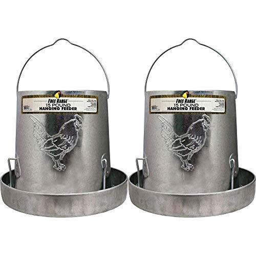 Harris Farms Hanging Poultry Feeder, 15 lb, Pack of 2