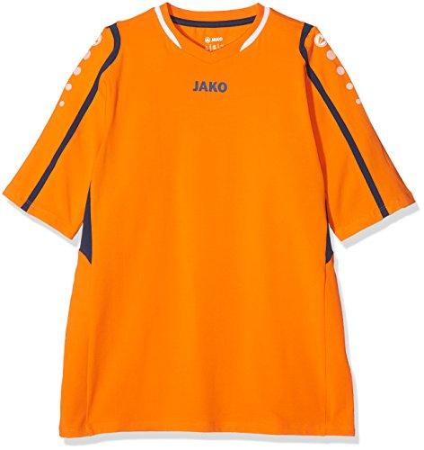 JAKO Kinder Volleyball Trikot Block Volleyballtrikots, Orange/Marine/Weiß, 164