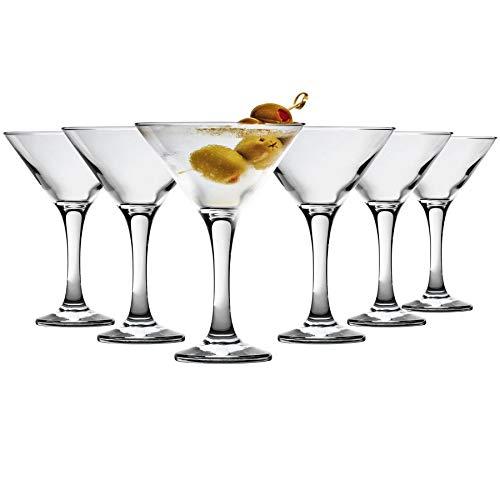 Vidrios de la ensalada de Martini - 175 ml (6 oz) Caja de regalo de 6