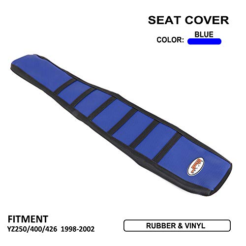 Housse de siège de Moto Soft Gripper pour Yamaha YZ250F YZ400F YZ426F 98-02 MX Bleu/Noir