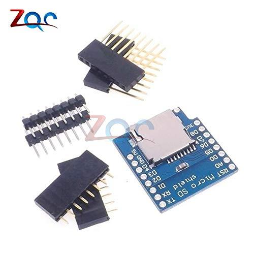 Micro-SD-Karten Schild für WeMos D1 Mini WiFi ESP8266 TF Memorry SpeicherKarten Modul mit Pins für Arduino