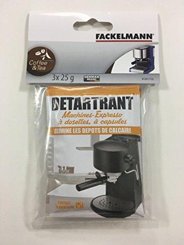 Fackelmann 01261 ontkalker machine espresso, grijs, 20 x 11,5 x 1,5 cm