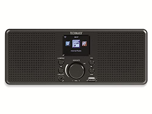 Technaxx Internet Stereo Radio (TX-153), schwarz