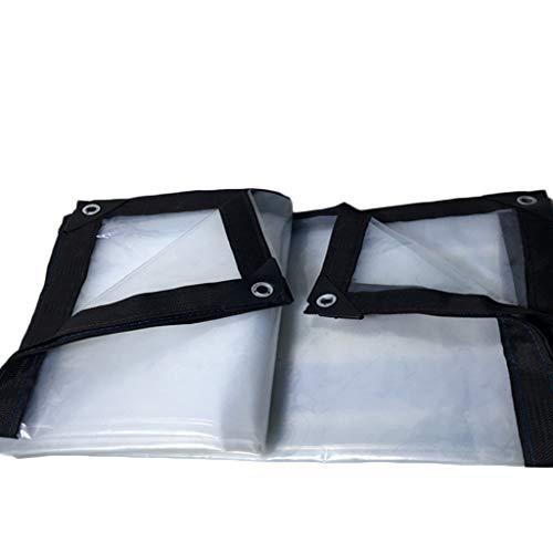 SACYSAC Transparente wasserdichte Hochleistungs-Outdoor-Regen- und Windschutzplane,2 * 4m
