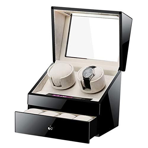 ZFF Enrollador automático Reloj, Toque Inteligente Motor silencioso silencioso 5 Modos rotación Ver Almacenamiento Caja Vitrina for Relojes for Mujer for Hombre (Color : B)