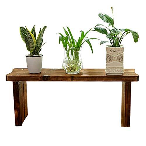 Woonaccessoires voor het opbergen van planten, bloempotten, in Scandinavische stijl, antiseptische deur gemaakt van hout, kunststof, ladder in bodemvorm, kleur carbonaat, 8 maten, BGJ 80x20x33cm