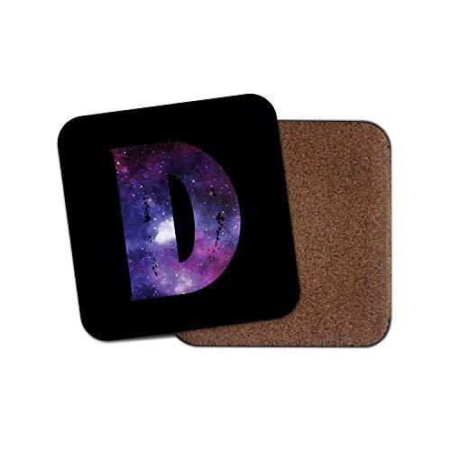 1 posavasos con inicial letra D, nombre de nebulosa de la galaxia espacial, regalo de cumpleaños #29515.