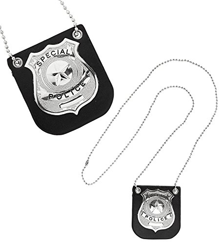 WIDMANN 05851.–Halskette Polizei Abzeichen, Einheitsgröße, Schwarz