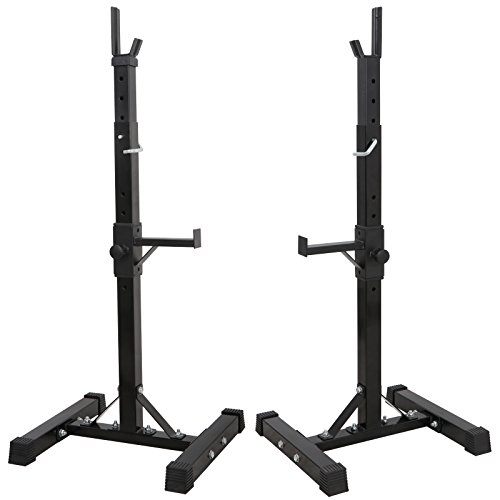 """F2C Pair of Adjustable 41""""-66"""" Sturdy Steel Squat Rack Barbell Free Bench Press Stand Gym/Home Gym Portable Dumbbell Racks Stand Max 441lbs"""