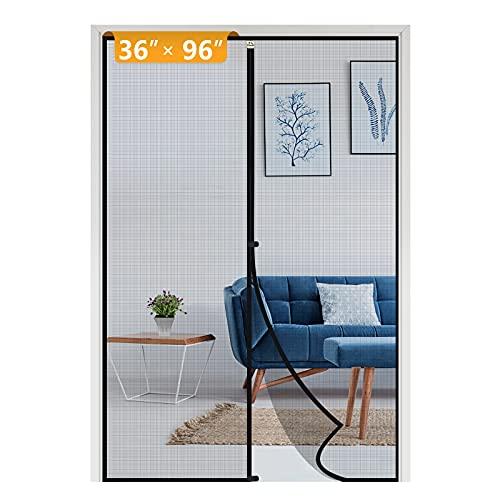 Yotache Screen Doors with Magnets Fits Door Size 36 x 96, Heavy Duty Screen Door Fit Doors Size Up to 36'W x 96'H Enjoy Fresh Air