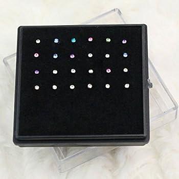 LEORX Crystal in Acciaio Chirurgico Naso Osseo Stud Body Piercing Gioielli - 24pcs
