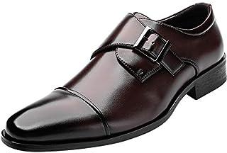 [todaysunny] ビジネスシューズ メンズ 革靴 本革 レザー モンクストラッ 紳士靴 ストレートチップ 内羽根 フォーマル ドレスシューズ 防滑 防臭 冠婚葬祭 職場用 普段用