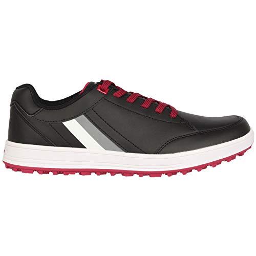 Slazenger Casual Herren Golfschuhe ohne Soft Spikes Schuhe Streifen Detail Schwarz 7 (41)