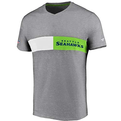 Fanatics NFL Seattle Seahawks Iconic Past & Present - Camiseta, color gris...