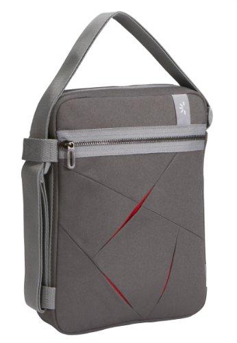 Netbook-Tasche Nylon grau/rot 10,2