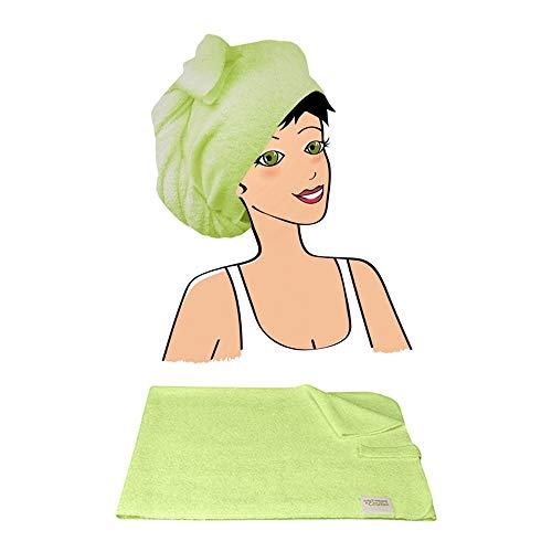 Les Tendances D'emma - Serviette A Cheveux Bambou Eco Belle Les Tendances D'emma - Vert