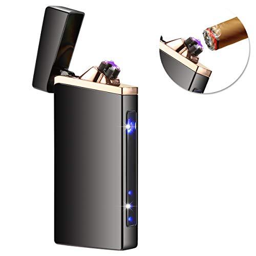 Qimaoo USB Feuerzeug Feuerzeug Elektro Feuerzeug Wasserdicht Winddicht Aufladbar Plasma Feuerzeug mit Kreuz Doppelt lichtbogen